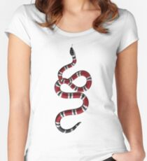 Gucci Snake Women's Fitted Scoop T-Shirt