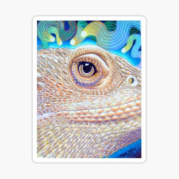 Dragon Star, Bearded Dragon Art Sticker