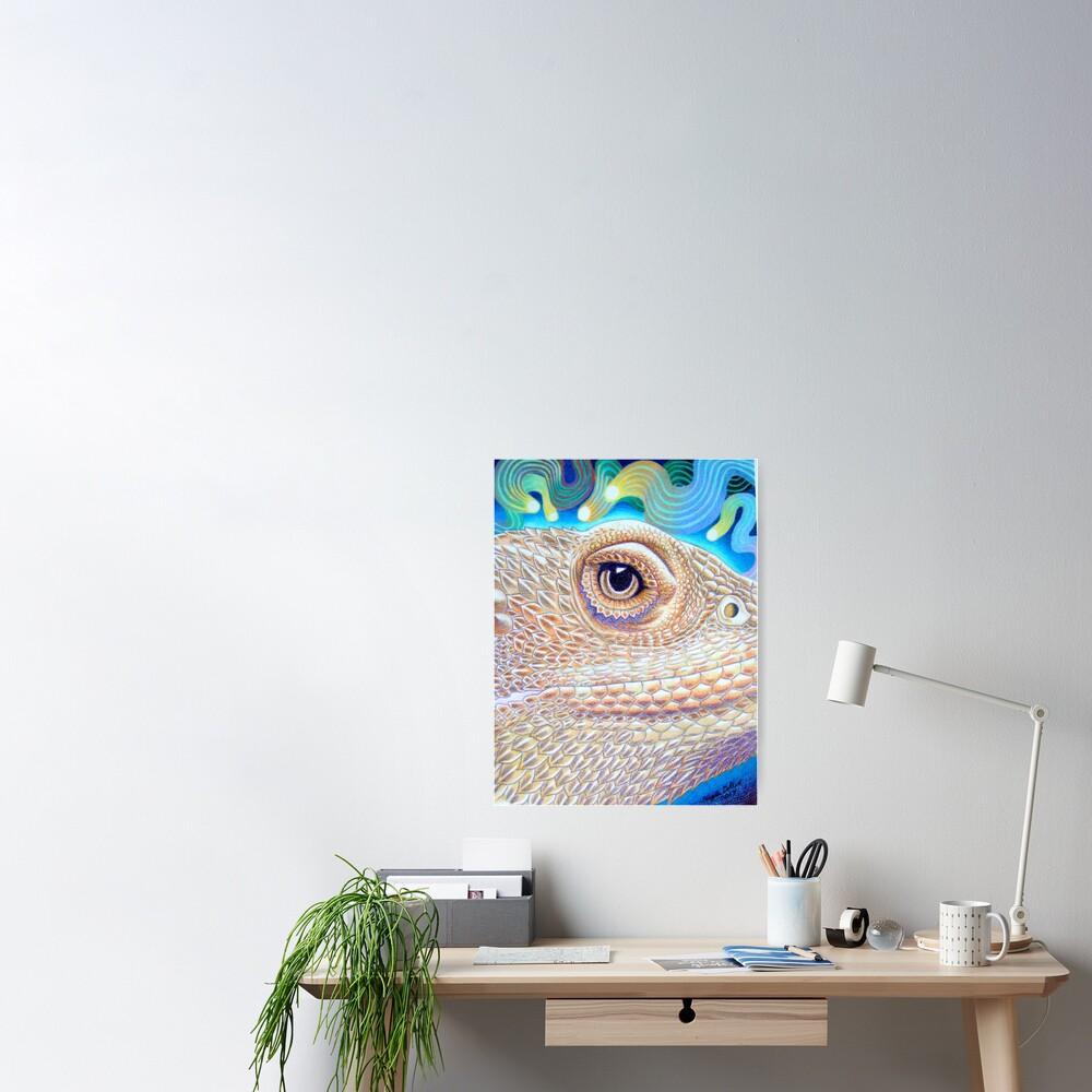 Dragon Star, Bearded Dragon Art Poster