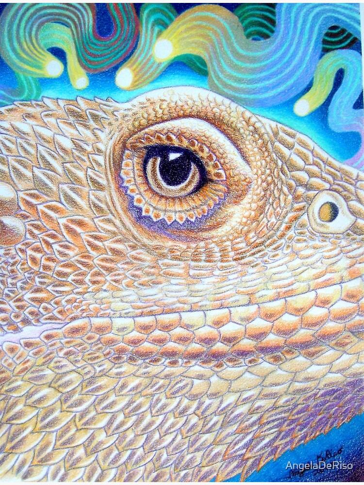 Dragon Star, Bearded Dragon Art by AngelaDeRiso