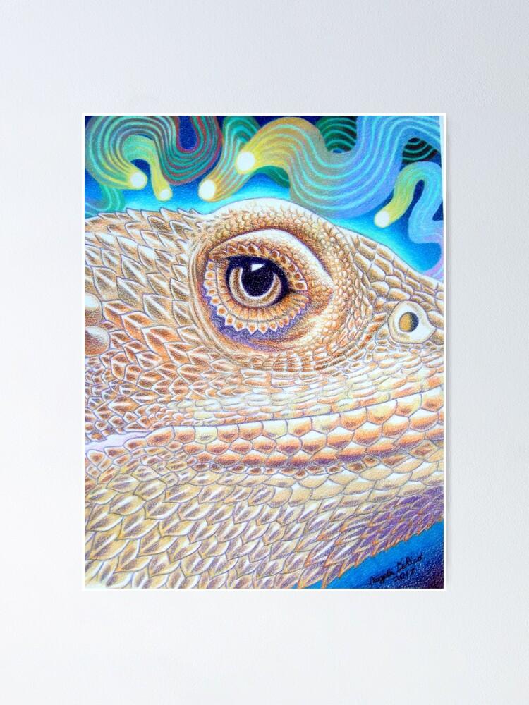Alternate view of Dragon Star, Bearded Dragon Art Poster