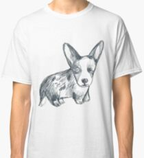 Bluemerle corgi dog Classic T-Shirt