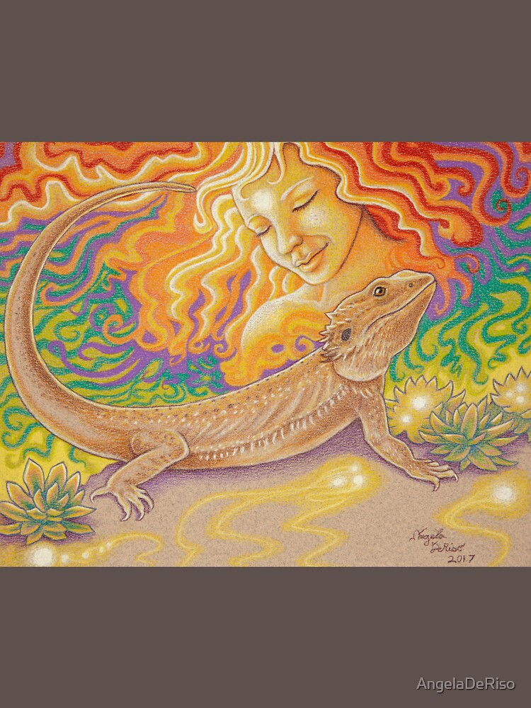 The Sun And The Dragon, Bearded Dragon Art by AngelaDeRiso