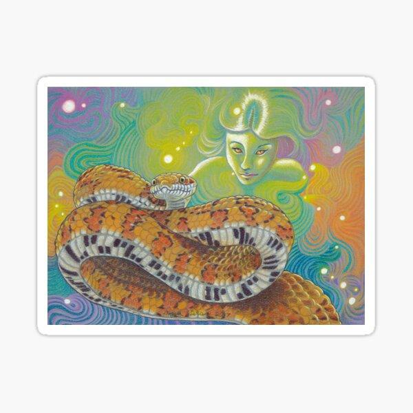 Serpent Goddess, Snake Art Sticker
