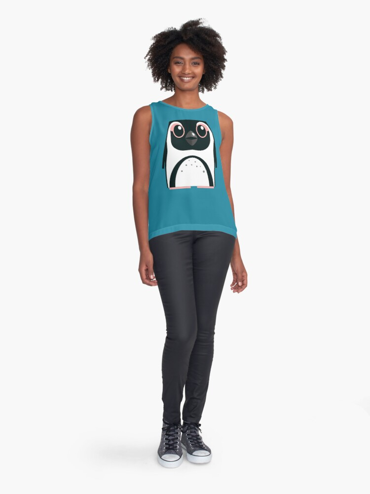 Alternate view of African Penguin - 50% of profits to charity Sleeveless Top