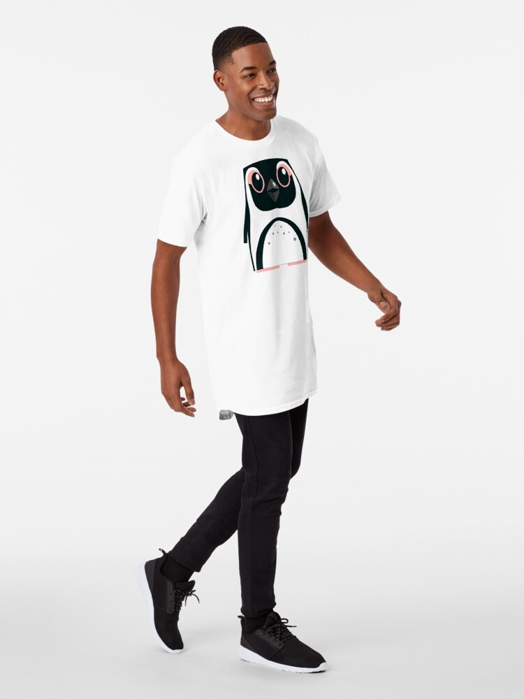 Alternate view of African Penguin - 50% of profits to charity Long T-Shirt