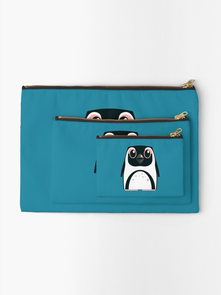 Alternate view of African Penguin - 50% of profits to charity Zipper Pouch