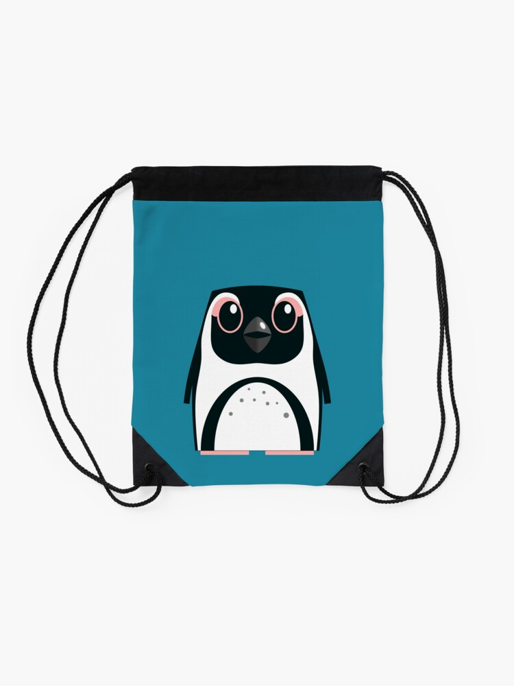 Alternate view of African Penguin - 50% of profits to charity Drawstring Bag
