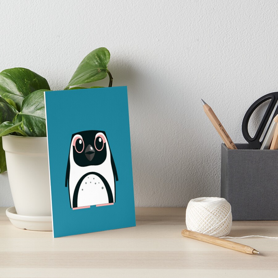 African Penguin - 50% of profits to charity Art Board Print