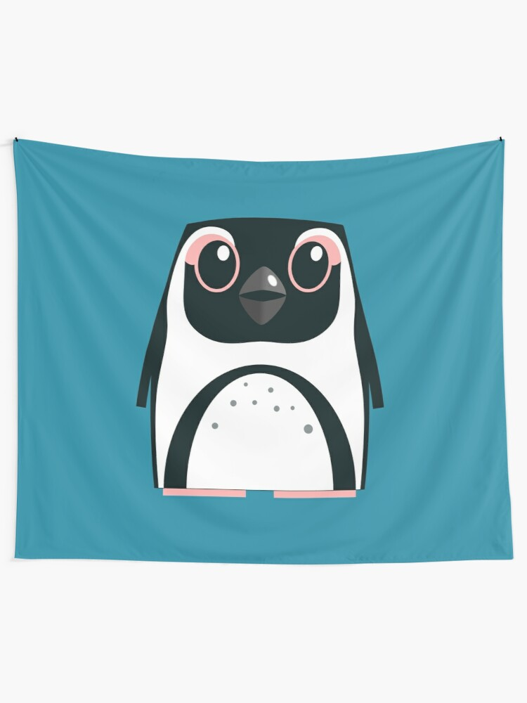 Alternate view of African Penguin - 50% of profits to charity Tapestry