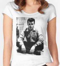 90s Johnny Depp Women's Fitted Scoop T-Shirt