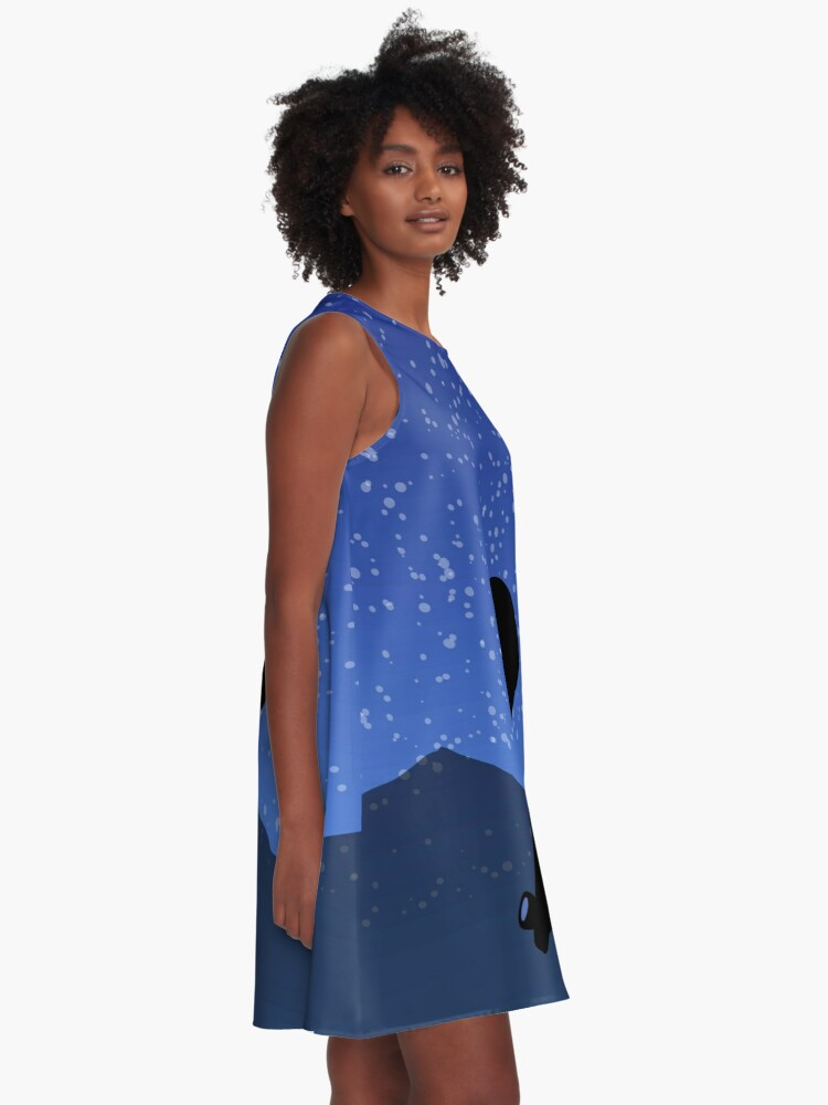 Alternate view of Astronomical A-Line Dress
