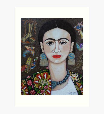 Frida thoughts  Art Print