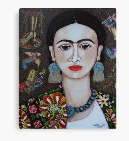 Frida thoughts  Canvas Print