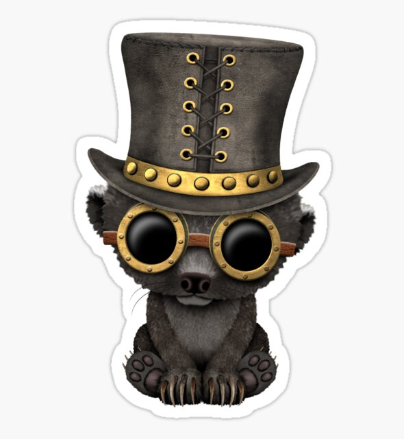 Steampunk Baby Honey Badger by jeff bartels