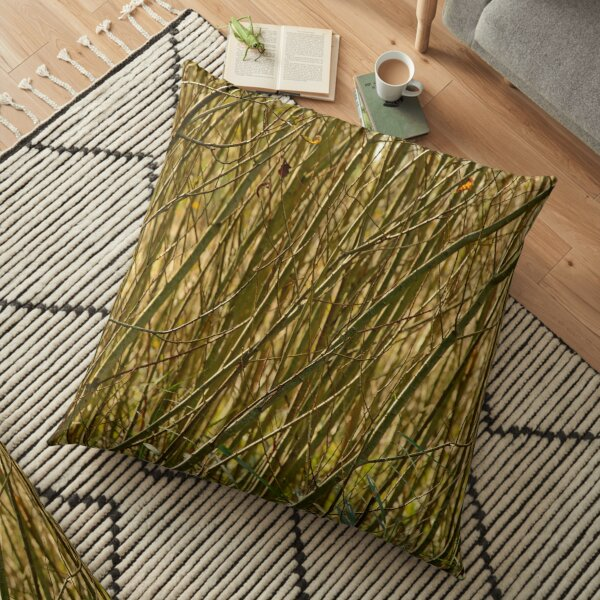 Texture of many twigs Floor Pillow