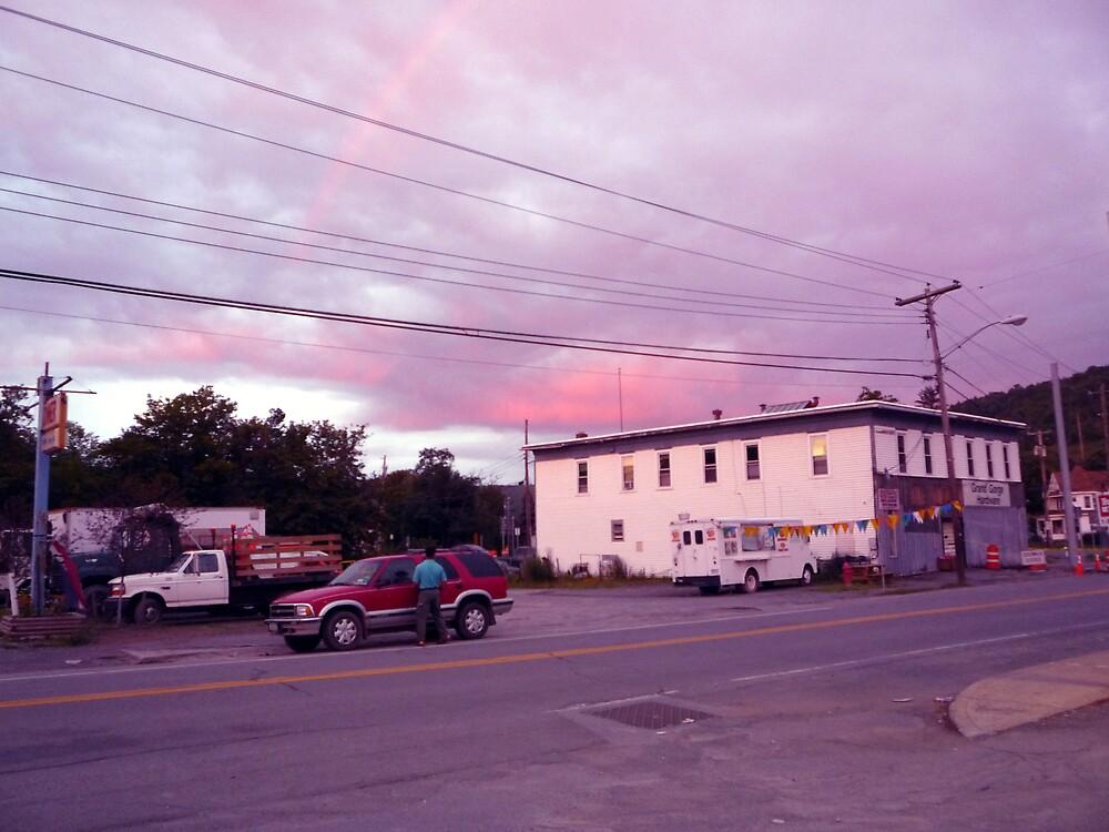 Rainbow Sunset by Ray L'Dera
