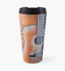 Taza de viaje El arte de la música, guitarra acústica