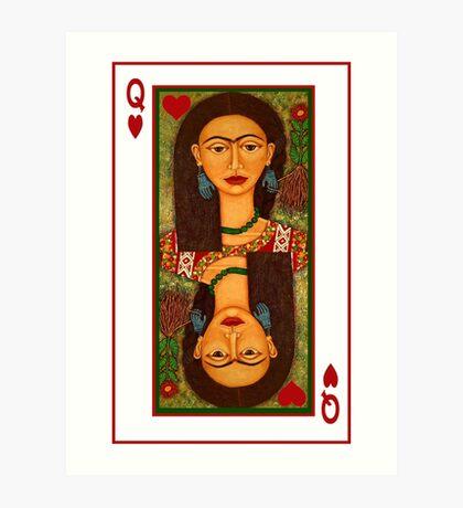 Frida Kahlo, reina de corazones Art Print