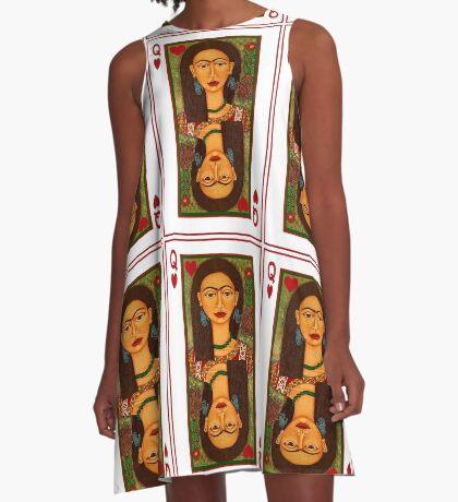 Frida Kahlo, reina de corazones A-Line Dress