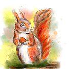 cute squirrel - cute squirrel by Birgit Schiffer