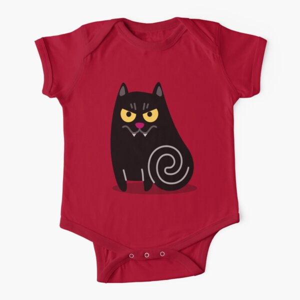 Cute Halloween Vampire Cat for Babies and Kids! Short Sleeve Baby One-Piece