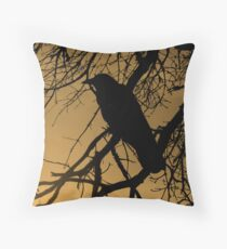 Creepy Crow Throw Pillow