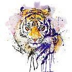 Tiger Head Portrait by Marian  Voicu