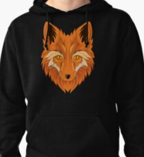 Fox with golden eyes Pullover Hoodie