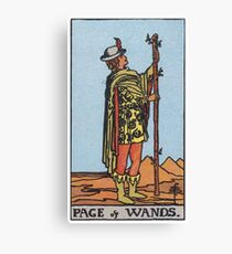 Tarot Card - Page of Wands Canvas Print