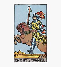 Tarot Card - Knight of Wands Photographic Print
