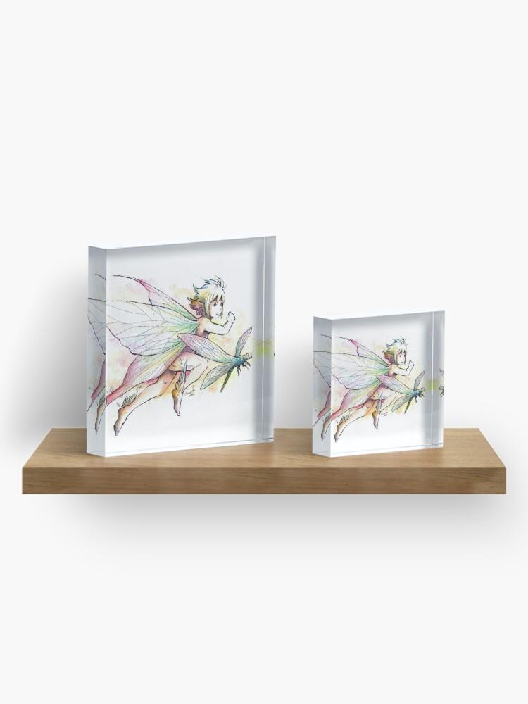 Alternate view of The Swift Fairy Acrylic Block