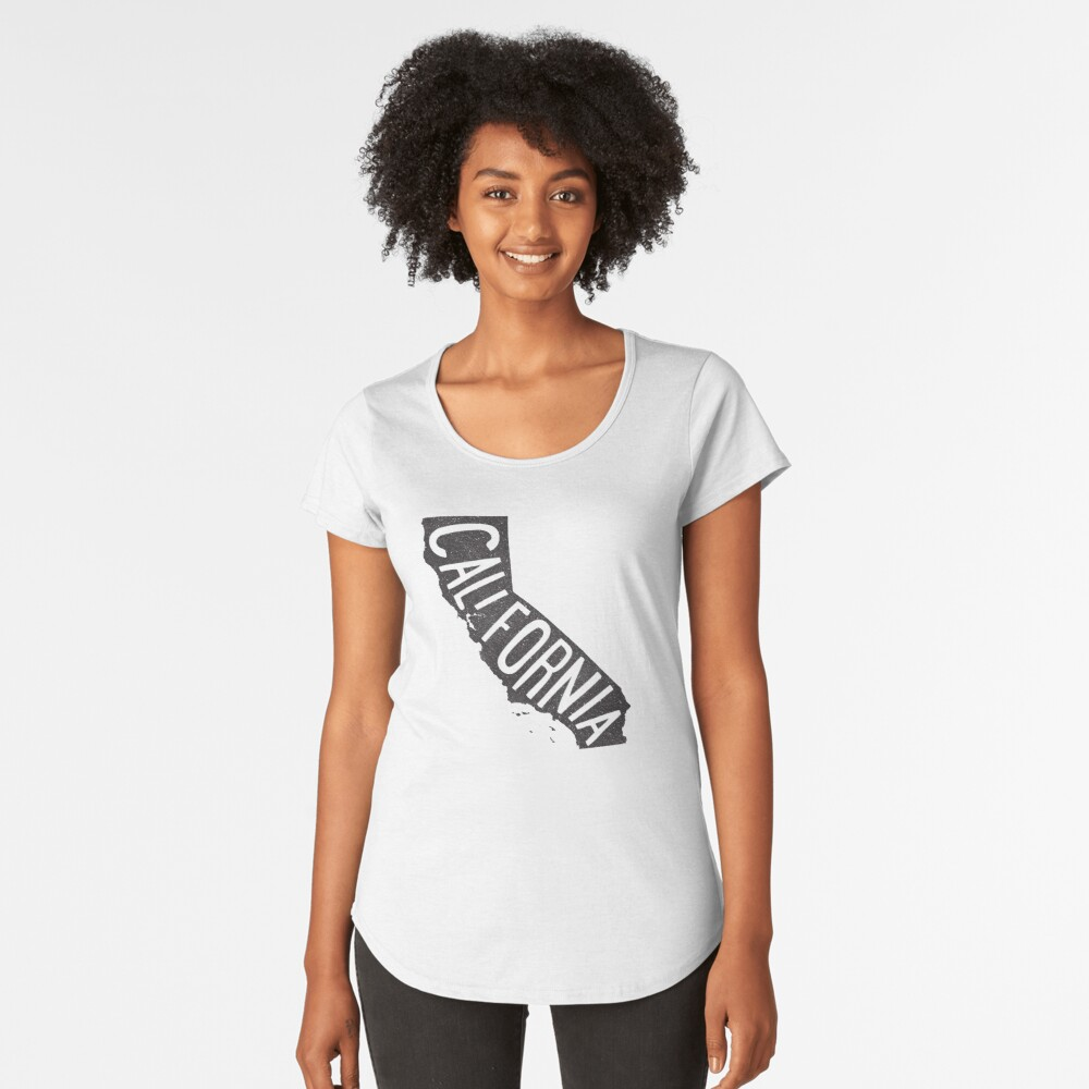 California Camiseta premium de cuello ancho