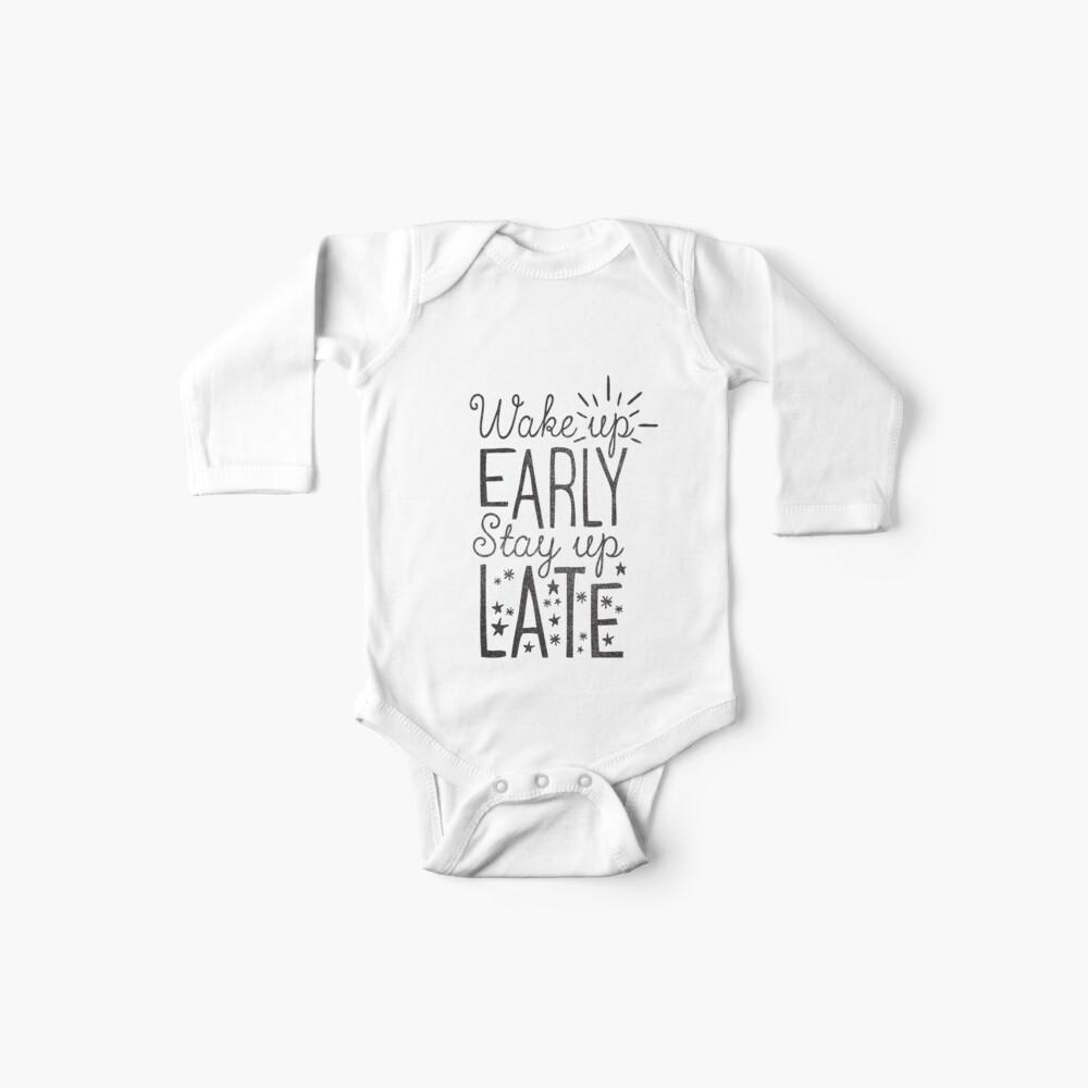 Lange wach bleiben Baby Body
