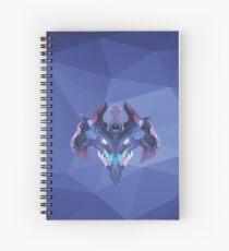 Visage Low Poly Art Spiral Notebook