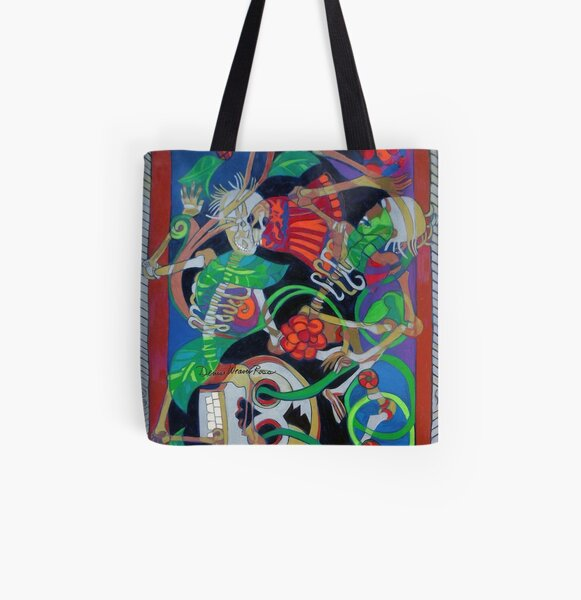 Exit Stage Left All Over Print Tote Bag