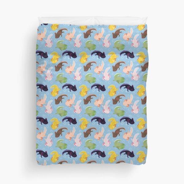 Axolotl Pattern Duvet Cover