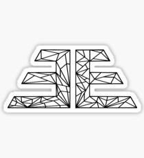 Black EVOLVE ƎE Geometric Sticker