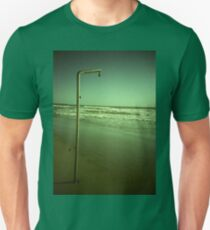Beach shower in surreal green 35mm xpro cross processed lomographic film lomography analog photo T-Shirt
