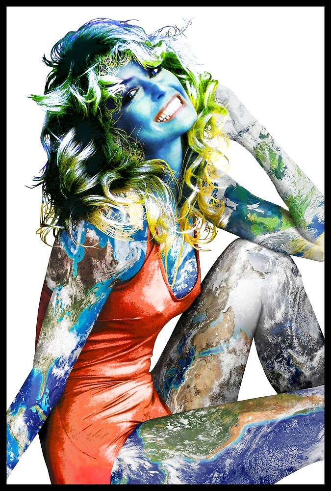 """Title: """"Proud Of What I Have"""", Pop Culture Sex Symbol Inspired, Earth Girl by O O"""