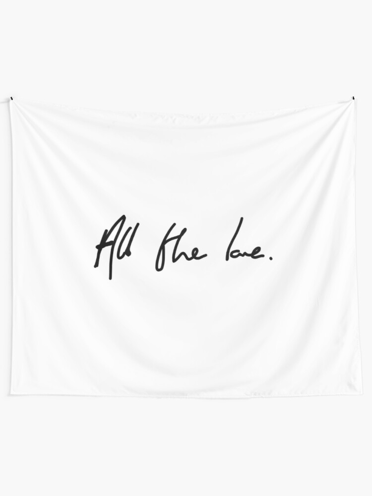 Alternate view of All the Love H Styles Handwriting Design Tapestry