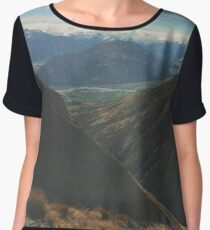 On Top Of Mountains Women's Chiffon Top