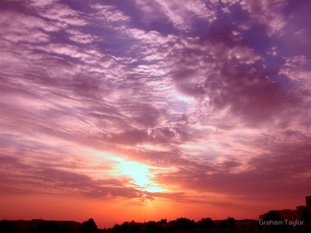 Clouds on Fire by Graham Taylor