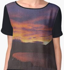 wake up & smell the campfire Women's Chiffon Top