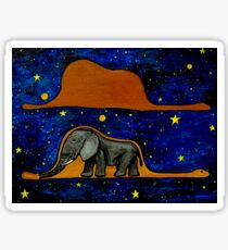 The Little Prince, Not a Hat, A Boa Constrictor Digesting An Elephant Sticker