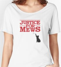 Justice For Mews Cat Silhouette Women's Relaxed Fit T-Shirt