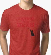 Justice For Mews Cat Silhouette Tri-blend T-Shirt