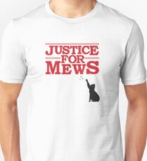 Justice For Mews Cat Silhouette T-Shirt