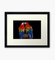 Fractal Macaws Framed Print