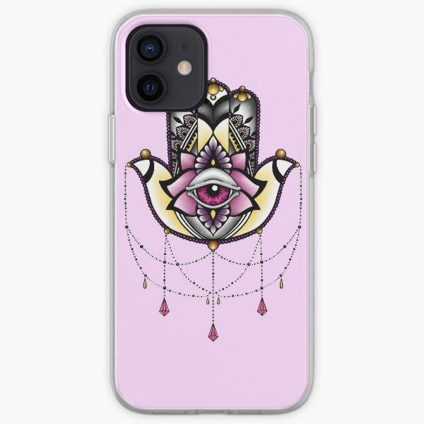 Pink Hamsa iPhone Soft Case